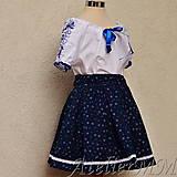 Detské oblečenie - Dievčenská folk suknička kvietok - 9358342_
