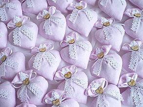 Darčeky pre svadobčanov - Svadobné vrecúška srdiečkové - 9359418_