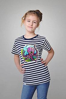 Detské oblečenie - Detské tričko - Chobotnička Milka - 9356260_