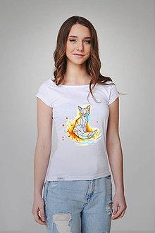 Tričká - Dámske tričko - akvarelová líška - 9356722_