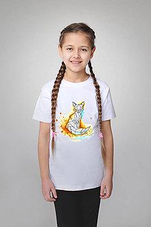 Detské oblečenie - Detské tričko - akvarelová líška - 9356746_