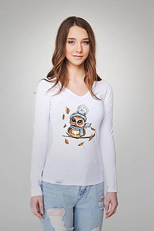 Tričká - Dámske tričko - Sovička - 9357035_