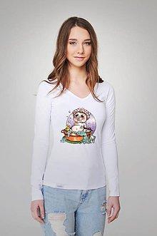Tričká - Dámske tričko - Prasiatko Peťko - 9357054_