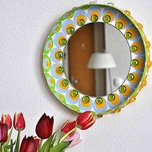Zrkadlá - Kruhové zrkadlo Mandala AKCIA!!! - 9357682_