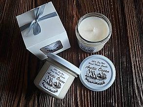 Svietidlá a sviečky - Sviečka zo 100% sójového vosku v skle - Arktický Oceán - Darčeková krabička - 9355999_