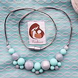 Náhrdelníky - Silikónový náhrdelník k šatke/ nosiču Rischino