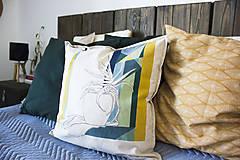 Úžitkový textil - Ručne maľovaná obliečka na vankúš PRALA aloe - 9359494_