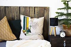 Úžitkový textil - Ručne maľovaná obliečka na vankúš PRALA kvetináčová I. - 9359764_
