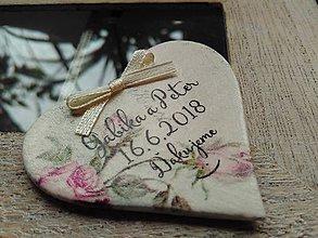 Darčeky pre svadobčanov - magnetky pre Gabiku a Petra - 9359784_