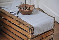 Úžitkový textil - ľanová štóla (svetlosivá) - 9357840_