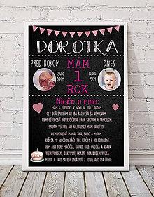 Detské doplnky - Obrázok k prvým narodeninám - 9357034_