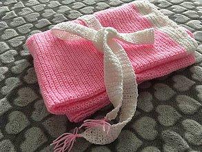 Textil - Deka do kočíka (husto háčkovaná, ružová) - 9358291_