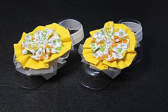 Topánočky - Baby sandálky / čelenka na nožičky Evi -E8 - 9359767_