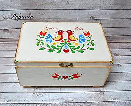 Krabičky - Maľovaná truhlička - 9356266_