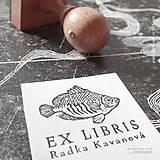 Drobnosti - Ryba: pečiatka 4x4 cm - 9355873_