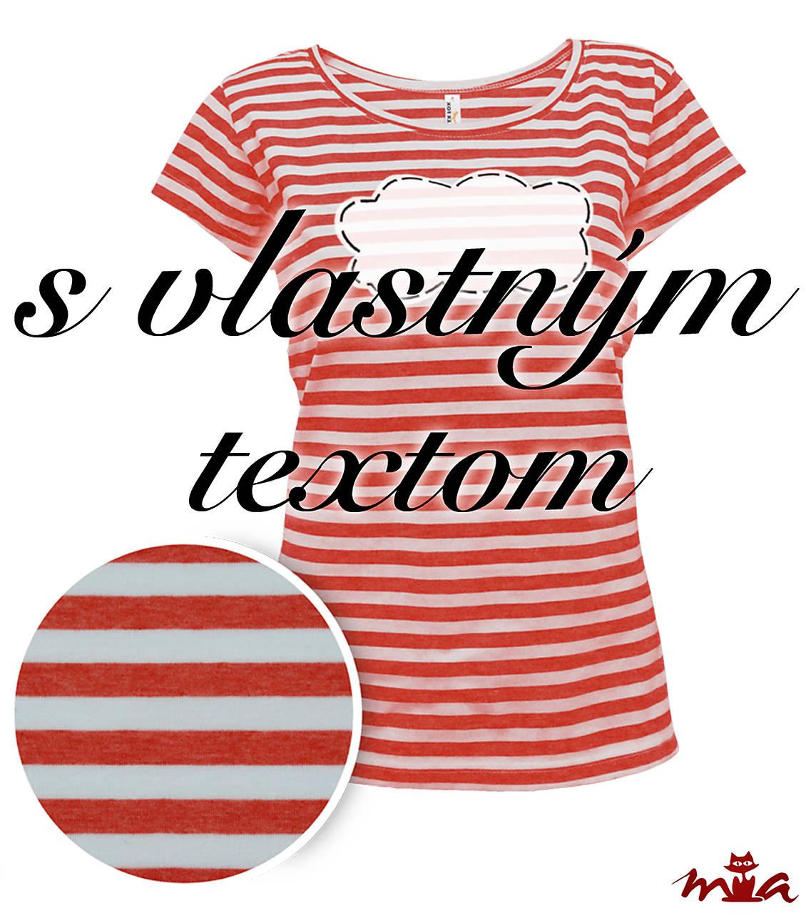 c8696500c317 Dámske červené námornícke tričko s vlastným nápisom ...