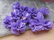 - Textilné kvety - pár (viac druhov) (Fialová) - 9358061_