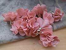 - Textilné kvety - pár (viac druhov) (Lososová) - 9358064_