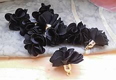 - Textilné kvety - pár (viac druhov) (Čierna) - 9358077_