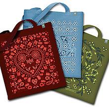 Nákupné tašky - Tri čarovné tašky farebné - 9358929_