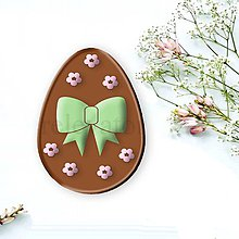 Grafika - Grafické čokoládové veľkonočné vajíčko kvietky - 9359685_