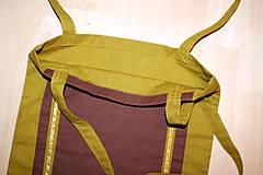 Nákupné tašky - Okrová taška na nákup - 9362262_