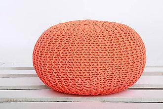Úžitkový textil - Pufy v krikľavých farbách (Oranžová) - 9362247_