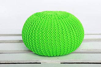 Úžitkový textil - Pufy v krikľavých farbách (Zelena) - 9362252_