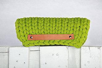 Kabelky - Zelená clutch kabelka - 9362337_