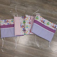 Textil - Hniezdo-Ružová sova na fialovo-180 - 9360013_