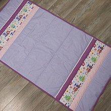 Textil - Prehoz-Ružová sova na fialovo - 9360021_