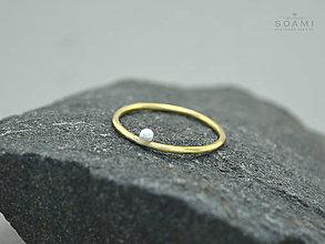 Prstene - 14k zlatý prsteň s prírodnou perlou - 9362622_