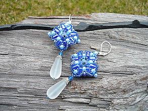 Náušnice - Náušnice Modrá elegancia...swarovski - 9363263_