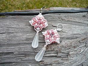 Náušnice - Náušnice Ružová elegancia...swarovski - 9363276_