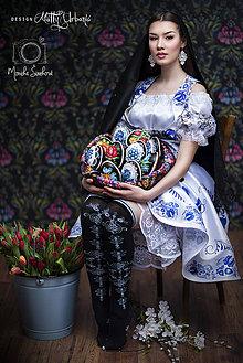 Topy - FOLK vestička - dirndl BLUE - 9361189_
