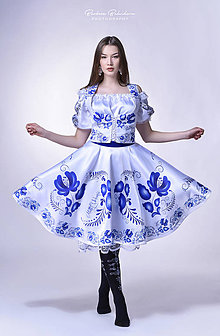 Sukne - suknička FOLK (Modrá) - 9361229_