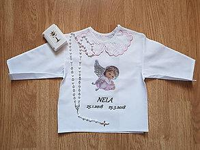 Detské oblečenie - Košieľka na krst - 9359882_