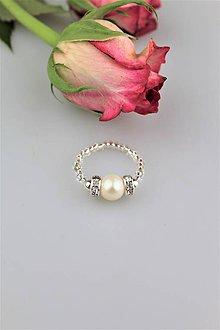 Prstene - pravá perla prsteň - 9362663_