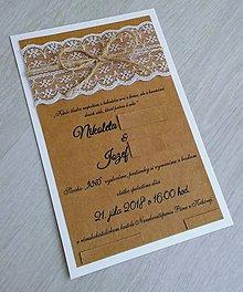 Papiernictvo - Svadobné oznámenie MAŠLIČKA - 9360439_