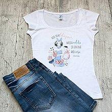Tričká - Dámske tričko Bláznivá - 9362773_