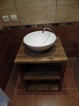 """Nábytok - Stolík pod umývadlo """" staré dosky """" - 9361431_"""