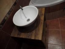 """Nábytok - Stolík pod umývadlo """" staré dosky """" - 9361432_"""