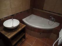 """Nábytok - Stolík pod umývadlo """" staré dosky """" - 9361434_"""