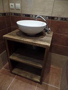 """Nábytok - Stolík pod umývadlo """" staré dosky """" - 9361433_"""