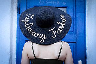 Čiapky - Letný klobúk čiernej farby - 9361623_