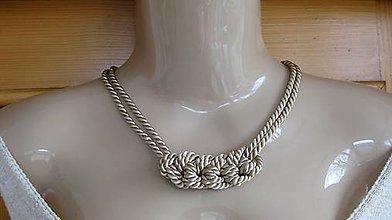 Náhrdelníky - Uzlový náhrdelník z dvoch šnúr - 9361685_