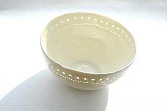 Nádoby - Madeirová porcelánová misa (Jemnosť) - 9361957_
