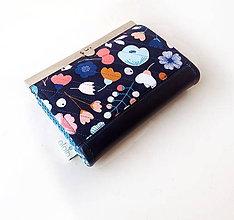 Peňaženky - Peňaženka s priehradkami Zmes veľkých kvetov - 9361318_
