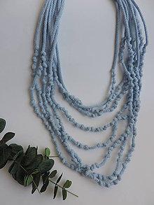 Náhrdelníky - Uzlíkový náhrdelník - modrý - 9362061_