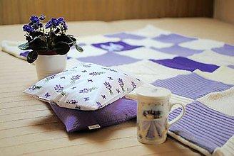 Úžitkový textil - Fialkové malé - 9360193_